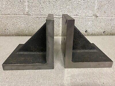 Challenge Machinery Co Cast Iron Universal Right Angle Plate 6 X 6 X 6 Set