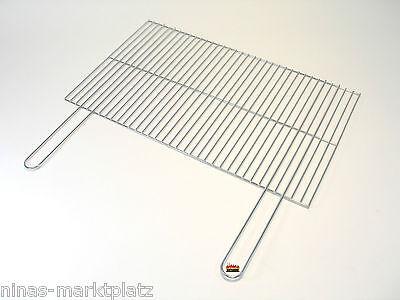 Grillrost chrom 67x40cm +G Grillgitter verchromt Ersatzrost eckig Grill Gitter