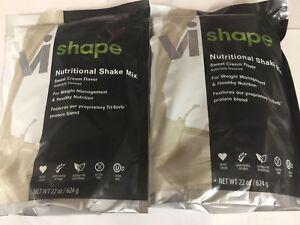 2 X ViSalus Vi-Shape Sweet Cream Nutritional Shake Mix (48 Servings) EXP 3/2020