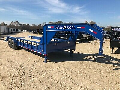 83 X 26 Gooseneck Pipe--27000 Lb Axles--max Ramps--load Trail--brand New