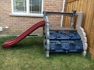 Little Tikes Playground / Slide with Rock and Rope Climbing