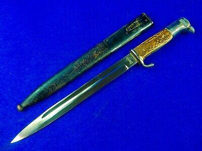 German Germany WW2 Mauser K98 Stag Dress Bayonet Dagger Knife w/ Scabbard
