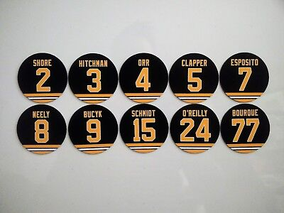 Boston Bruins Retired Jersey Magnets - Select a player - Fridge magnets - Hockey