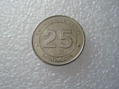 Zimbabwe 25 Cent Bond Coin 2014 Token Coin 1001-1