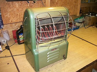 Vintage Dominion Space Heater - with Blower - Large - 19""