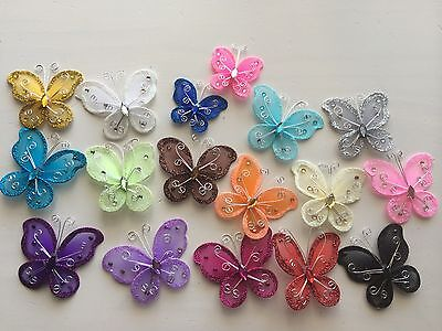 12 pcs. Nylon Organza Butterflies Wedding Butterfly & Party Decor 1 2 3 Inch  - Butterfly Party Decorations