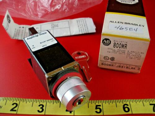 Allen Bradley 800MR-J631BLAK Ser A Selector Switch 3 Pos Key Lock 800MR-J631B