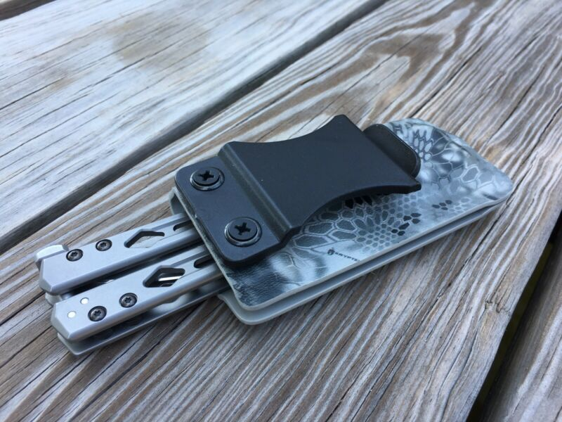 Kydex Sheath For Kershaw Lucha Balisong/Butterfly Knife Inside/outside Belt Clip
