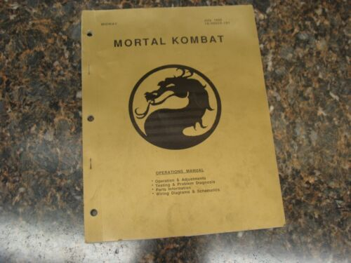 Mortal Kombat Video Arcade Game Service Manual, Atlanta (755)