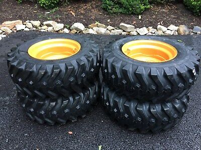 4 New 12-16.5 Camso Sks332 Skid Steer Tires Rims For Case 1845c Others