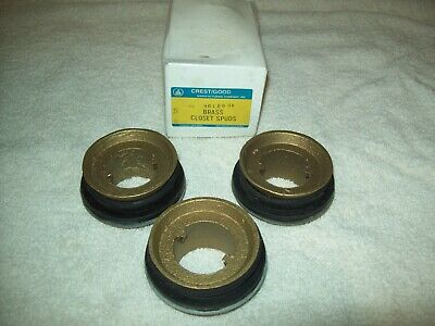 Box Lot Of 3 Crestgood Cast Brass Toilet Closet Spud For 1-12 Pipe