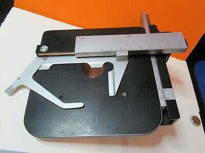 Leitz Sm-lux German Stage Table Micrometers Microscope Part As Pictured 55r-b-26