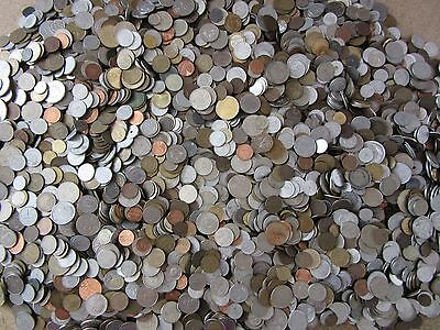 Huge Unsearched Lot of World Foreign coins selling by the 1 9 Kilos (4 19  Lbs)