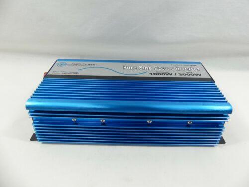 AIMS 1000 Watt, 2000 Watt Peak, Pure Sine DC to AC Power Inverter