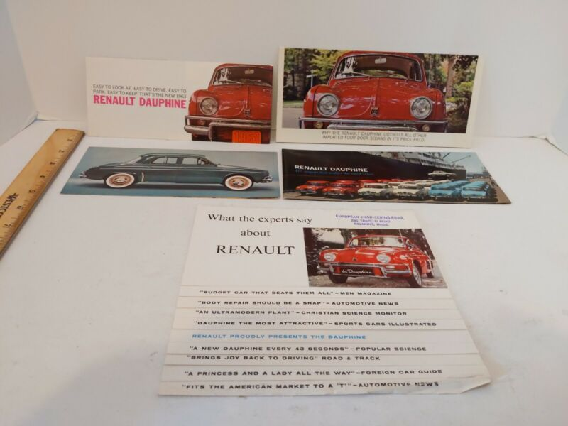 1960s Renault Dauphine Sales Brochures Flyers Made In France Import
