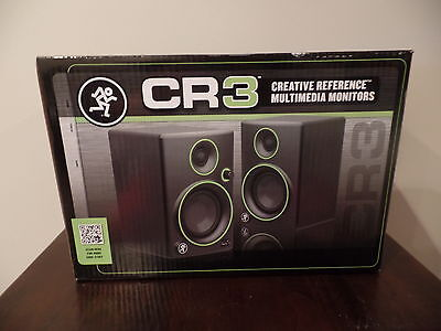 "Mackie CR3 3"" Multimedia  Studio Monitors Speakers - PAIR - BRAND NEW FAST SHIP!"