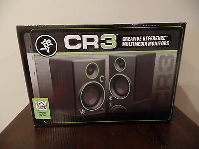 Mackie Cr3 3  Multimedia  Studio Monitors Speakers   Pair   Brand New Fast Ship