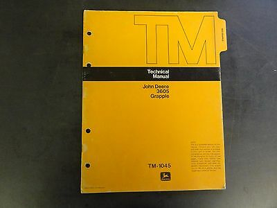 John Deere 3605 Grapple Technical Manual  Tm-1045