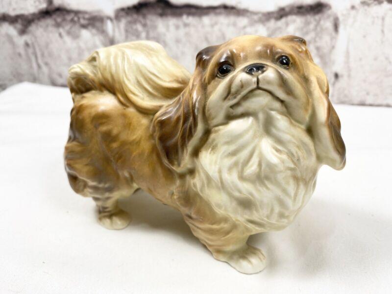 VINTAGE Ucagco Hand Painted Porcelain Pekingese Dog Figurine Japan