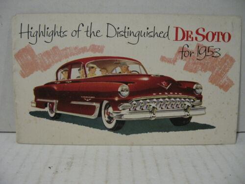 1953 DeSoto Highlights Car Dealer Sales Brochure Booklet