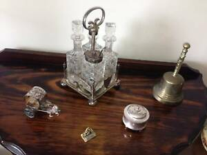 4 Crystal items in stand  & 3 silver items.Excellent cond. $150. Bundall Gold Coast City Preview