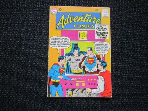 Adventure Comics #275 - 1960 VG, origin of Superman Batman team