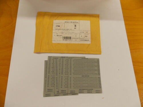 New Allen-Bradley AB 1794-LBL label Kit for PLC Flex I/O Terminal Base L6