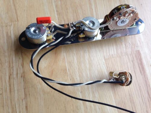 Telecaster Wiring Harness Fender CTS Pots Oak Switch Orange Drop Treble Bleed