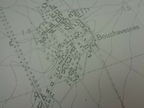 """WW1 (1916) British SOMME Trench Map produced before """"The Battle of The Somme"""""""