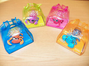 Xia Xia 4-LOT Hermit Crab Toy -Trinidad, Bimini, Turks, Tobago Crabs *BRAND NEW*