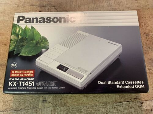 Vintage Panasonic Easa-Phone KX-T1451 Dual Cassette Answering Machine  NOS NEW