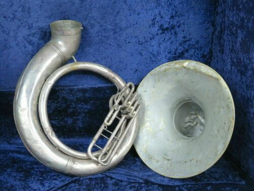 Martin Handcraft Jumbo BBb Silver Sousaphone Ser#61032 Non Playing Sold  AS IS