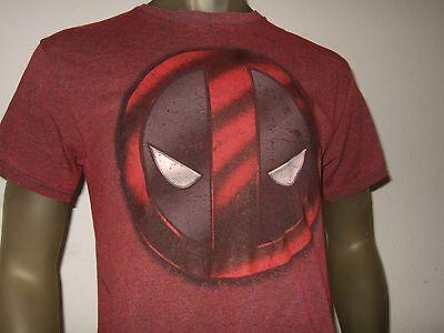 New Men's Dark Red Marvel Comics Deadpool Eyes Mask Face Wade Wilson Tee Shirt - Dark Red Face