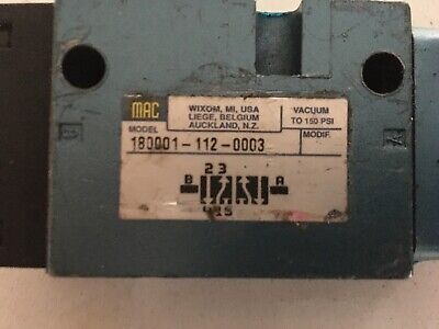 Kwikprint 86aa Kwik Print Mac Valve 180001-112-0003 Good Working Condition