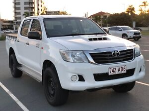 2015 Toyota Hilux KUN26R SR Double Cab White 6 Speed Sports Automatic