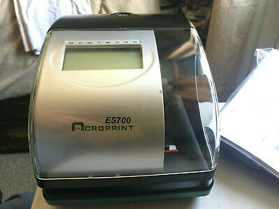 Acroprint Es700 Timedate Employee Time Clock