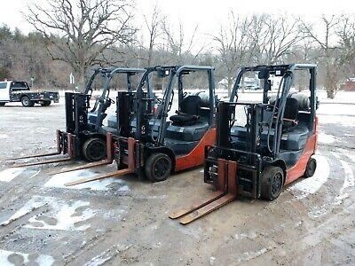 Nice 2013 Toyota 4000 Lb Lpg Forklift 8fgcu20 Side Shift Fork Positioners