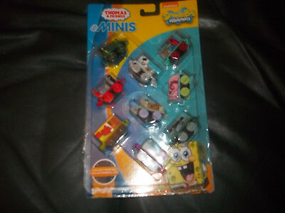 Fisher-Price Thomas & Friends MINIS SpongeBob Squarepants Trains 9 pack Dmg Pack