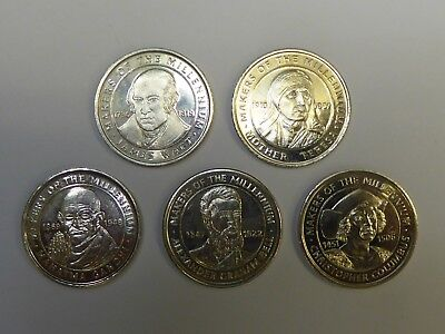 5 Coins from Makers of The Millennium Collection 2000 Sainsburys