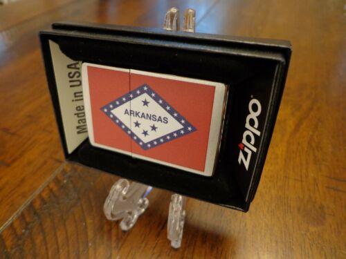 ARKANSAS STATE FLAG SERIES ZIPPO LIGHTER MINT IN BOX