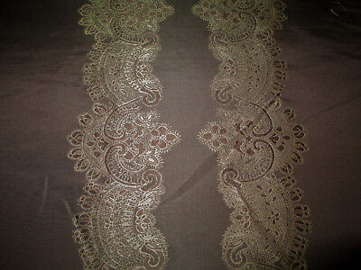 Fabric Robert Allen Beacon Hill Le Reve Sable Silk Embroidered Drapery II12 Robert Allen Drapery Fabric