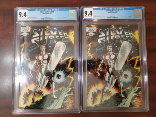 SILVER SURFER V.2 #1 CGC 9.4 OW-W pages.