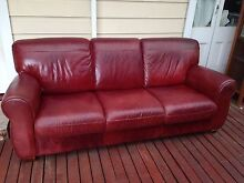 Red Leather Sofa Bayswater Bayswater Area Preview