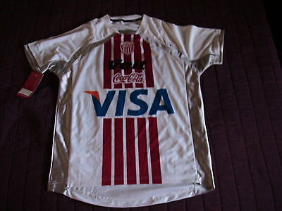 Team Necaxa Mens Official Soccer Jersey Potero Voit White/Silver Size S 2009 image