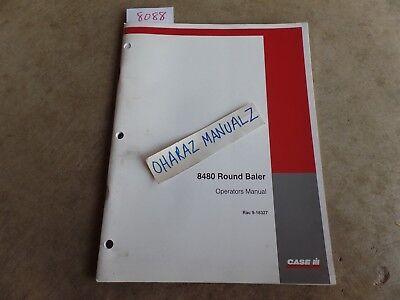 Case 8480 Round Baler Operators Manual 9-18327