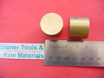 2 Pieces 1 Brass C360 Round Rod 1 Long H02 Solid New Lathe Bar Stock