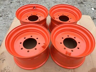 4 New 16.5x9.75x8 Skid Steer Wheelrim For Bobcat Fits 12-16.5 - 843853863873