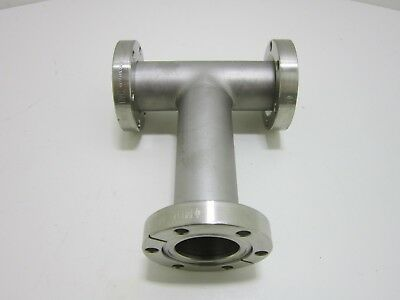 Stainless Steel Vacuum Pipe Tee Fitting 2 34 Cf Flange Mdc Mfg Excellent Usa