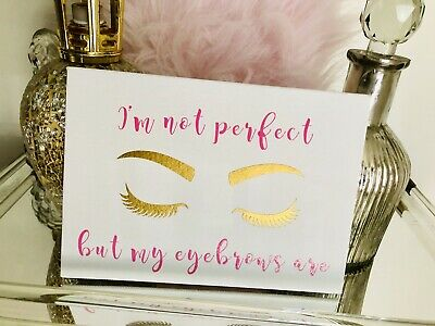 White And Gold Table Decorations (White Canvas Makeup Theme Pink Gold Lashes Eyebrows Vanity Table Salon)
