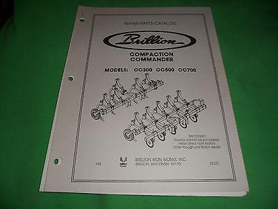 Drawer 16 Brillion Compaction Commander Cc300 Cc500 Cc700 Repair Parts Catalog